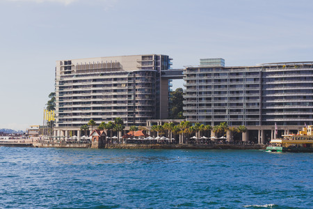 SYDNEY, AUSTRALIA - July 14th, 2013: Circular Quay in Sydney Central Business District Editorial
