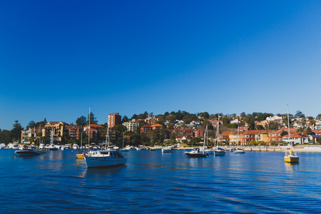 SYDNEY, AUSTRALIA - July 12th, 2013: beautiful bay surrounding Sydney Harbour