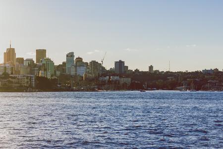 SYDNEY, AUSTRALIA - July 7th, 2013: Sydneys bay as seen from the ferry