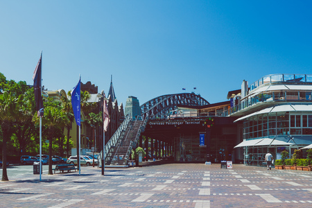 SYDNEY, AUSTRALIA - December 16th, 2013: detail of the area surrounding Sydney Harbour and Circular Quay