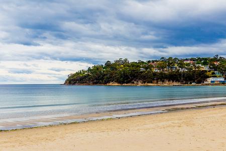 HOBART, AUSTRALIA - December 24th, 2013: Kingston beach south end, stormy seaside walks along the esplanade Editorial