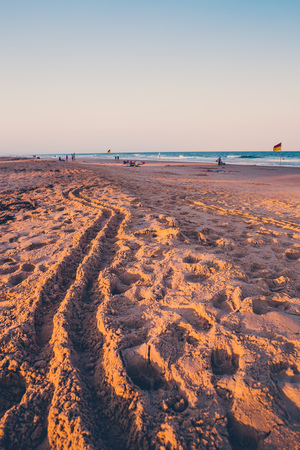 GOLD COAST, AUSTRALIA - January 5th, 2014: the beach and landscape in Surfers Paradise on the Gold Coast, a popular destination in Queensland