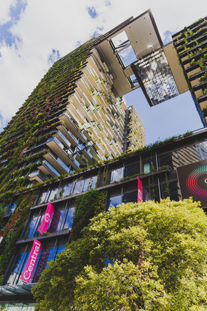 SYDNEY, AUSTRALIA - December 26th, 2014: exterior of the Central Park hotel and mall in Sydney CBD near Broadway