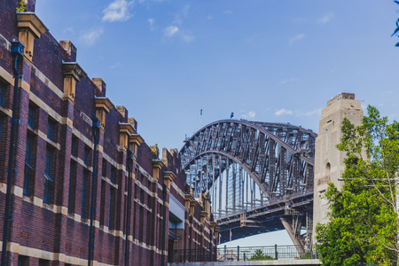 SYDNEY, AUSTRALIA - December 26th, 2014: view of the Sydney Harbour Bridge from low perspective Editorial