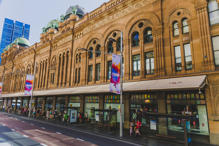 SYDNEY, AUSTRALIA - December 26th, 2014: exterior and architecture of the Queen Victoria Buildingdepartment store in Sydney CBD