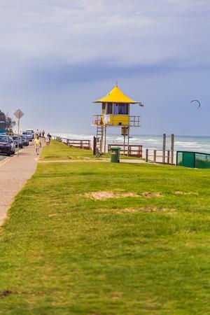 GOLD COAST, AUSTRALIA - January 14th, 2015: beach and green area in Surfers Paradise