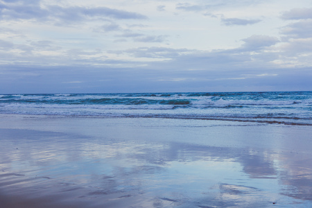 GOLD COAST, AUSTRALIA - January 13th, 2015: the Pacific Ocean and beach in Surfers Paradise