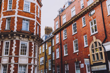 LONDON, UNITED KINGDOM - August 22nd, 2018: architecture in Mayfair in London city centre