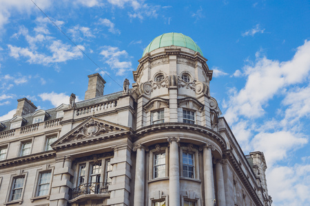 LONDON, UNITED KINGDOM - August 13th, 2018: architecture in London city centre in the famous Regent Street