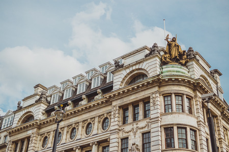 LONDON, UNITED KINGDOM - August 23rd, 2018: architecture in London city centre in Piccadilly Editorial