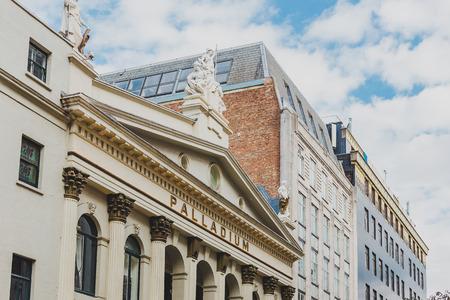 LONDON, UNITED KINGDOM - August 13th, 2018: The Palladium Theatre in London city centre Editorial