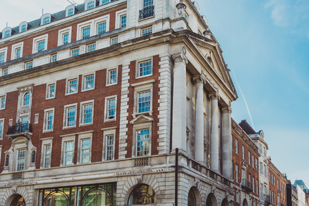 LONDON, UNITED KINGDOM - August 21st, 2018: architecture in London city centre in Piccadilly street