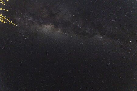 the milky way and constellations visible from the southern hemisphere (Tasmania) on a clear winter sky night Banco de Imagens - 130359984