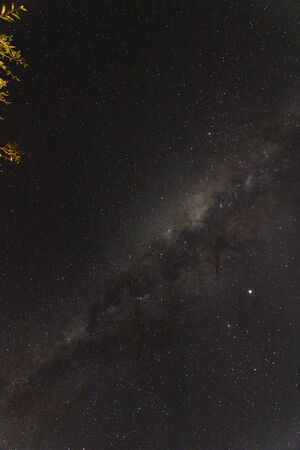 the milky way and constellations visible from the southern hemisphere (Tasmania) on a clear winter sky night Banco de Imagens - 130359990