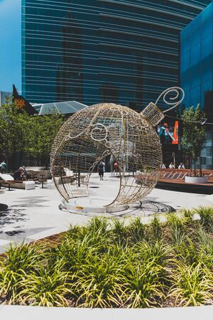 PERTH, WESTERN AUSTRALIA - December 26th, 2019: architecture and details of the streets of Perth modern CBD