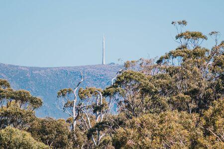 view of the mountains surrounding the city of Hobart, Tasmania in Australia