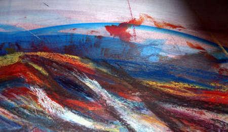 abstrait: mer déchaînée