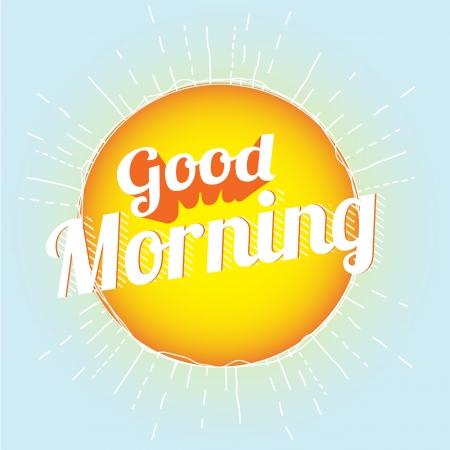 아침: 좋은 아침