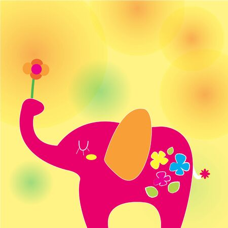 Elephant on a sunny day Stock Vector - 15320451