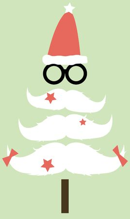 Moustaches Christmas tree