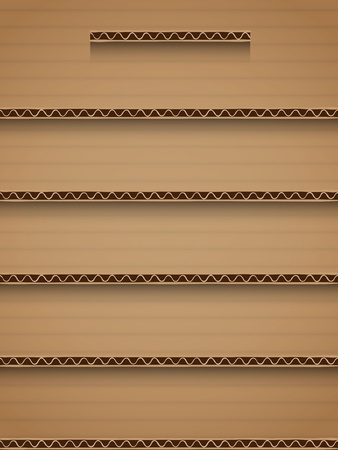 recycle cardboard shelf background interface