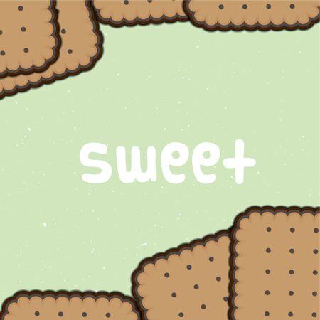 sweet biscuit background Stock Vector - 16712583