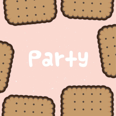 party biscuit background Stock Vector - 16712581