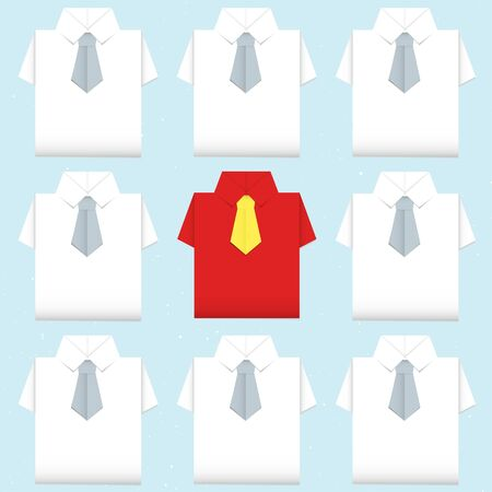 be different shirt origami Stock Vector - 16783983