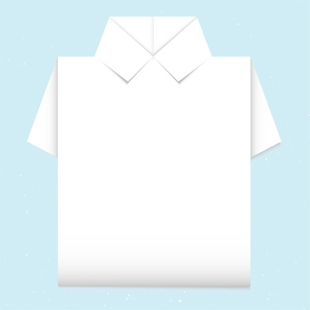 blank shirt origami Stock Vector - 16783981
