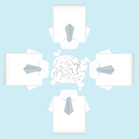 brainstorm shirt origami Stock Vector - 16783982