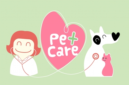 pet care illustration Vector