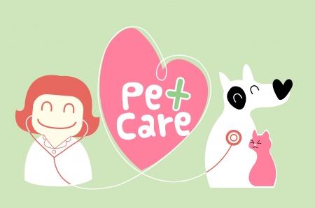 pet care: pet care illustration Illustration