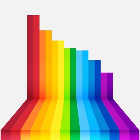 arco iris perspectiva de fondo Ilustración de vector