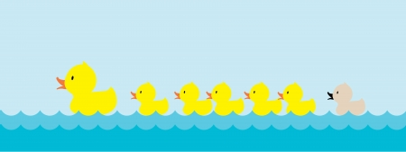 rubber ducks: ugly duckling