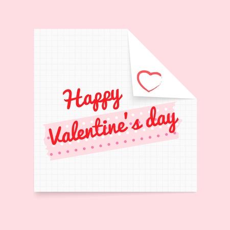 masking: Bloc de notas Happy Valentine s Day cinta adhesiva