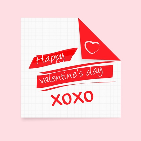 Happy Valentine s Day notepad Stock Vector - 17144490
