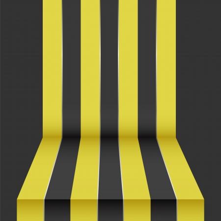 black yellow perspective background Stock Vector - 17144494