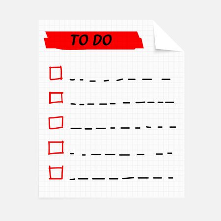 to do list notepad Stock Vector - 17144501