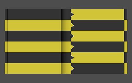 black yellow design template Stock Vector - 17191794