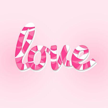 sweet love lettering card modern style Illustration
