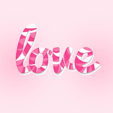 sweet love lettering card modern style Illustration