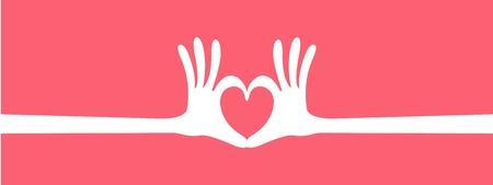 mano cuore intestazione gesto