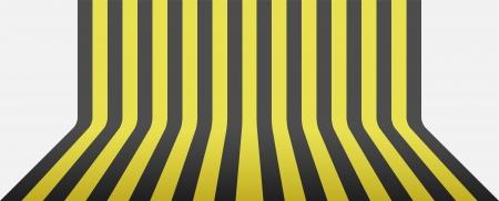 black and yellow stripe background round corner Stock Vector - 17352747