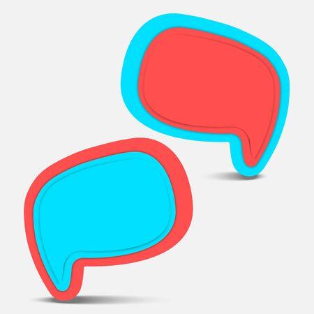 pop color speech bubble  Ilustração