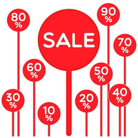 discount label sign symbol Stock Vector - 17375240