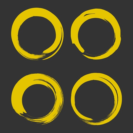 gold paint brush circle hand drawn Stock Vector - 17478565