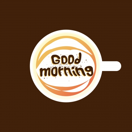 good break: good morning coffee dark background  Illustration