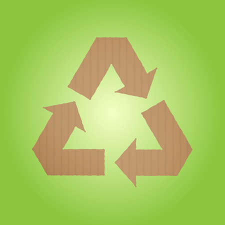 cardboard recycle sign Vector