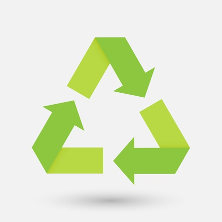 recycle sign fold paper Vector