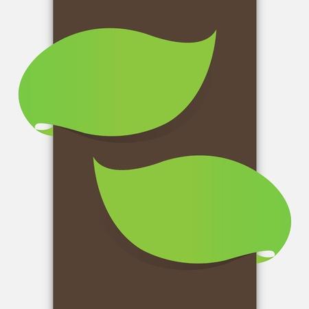 leaf banner Stock Vector - 17694175